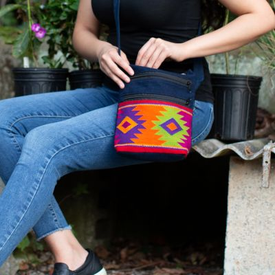 Diamond Pocket Purse Handmade Guatemala Ethical Handbag