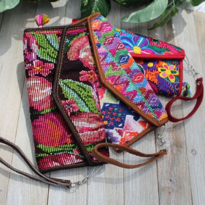 fair trade handmade huipil wallet guatemala