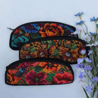 Fair Trade upcycled padded eyeglass case guatemala