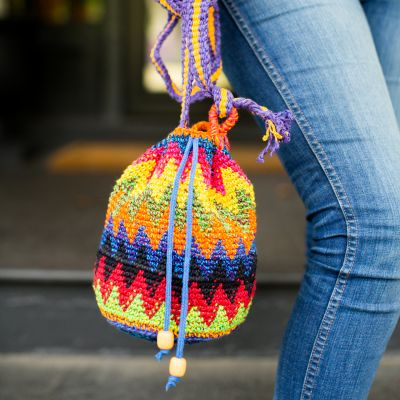 Ethical Purse Fair Trade Handbag Small Purse Guatemala Multi Color