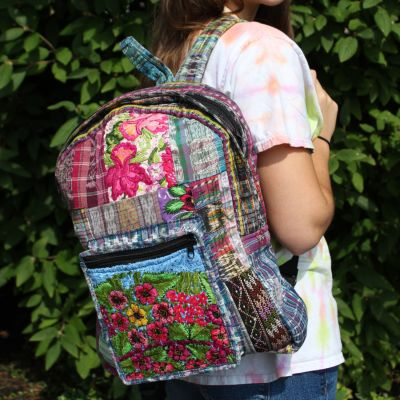 Fair Trade Guatemala Chichi Patch Backpack