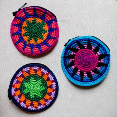 Lucia's Imports Wholesale Fair Trade Handmade Guatemalan Disc Coin Bags
