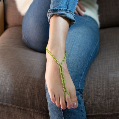 Guatemalan Fair Trade Beaded barefoot sandal anklet
