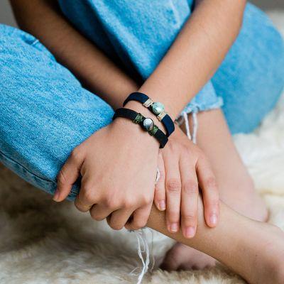 Lucia's Imports Wholesale Fair Trade Handmade Guatemalan Life Jade Leather Bracelet