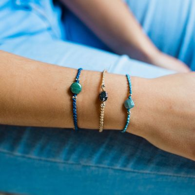 Lucia's Imports Wholesale Fair Trade Handmade Guatemalan Macrame Jade Stackable Bracelet
