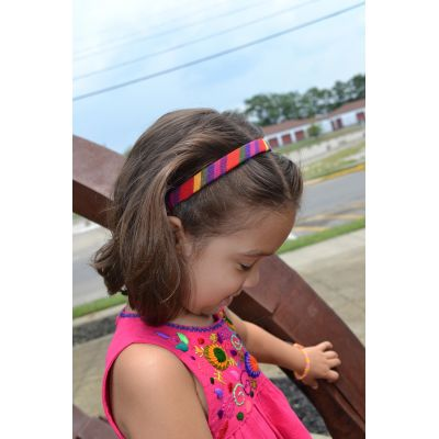 Girl's Headband Woven Guatemalan Multi Color Kids