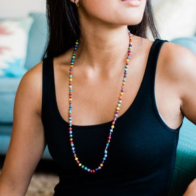 Single Multicolor Necklace fair trade Guatemala