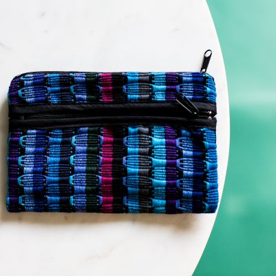 Guatemalan fair trade comalapa cosmetic bag