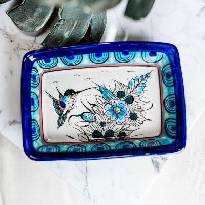 Lucia's Imports Wholesale Fair Trade Handmade Guatemalan Ceramic Wild Bird Rectangle Dish
