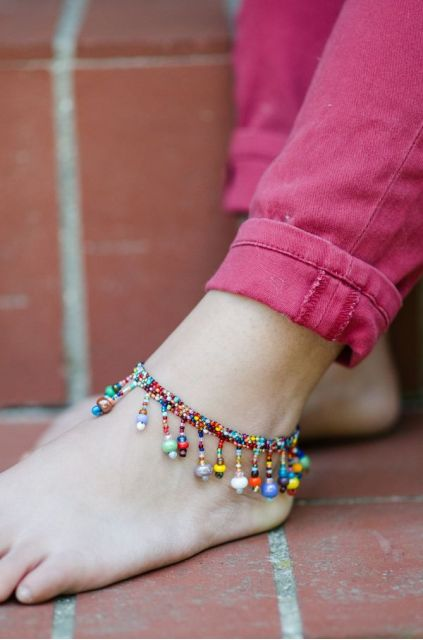 Lucia's Imports Wholesale Fair Trade Handmade Guatemalan Beaded Beach Ball Anklet