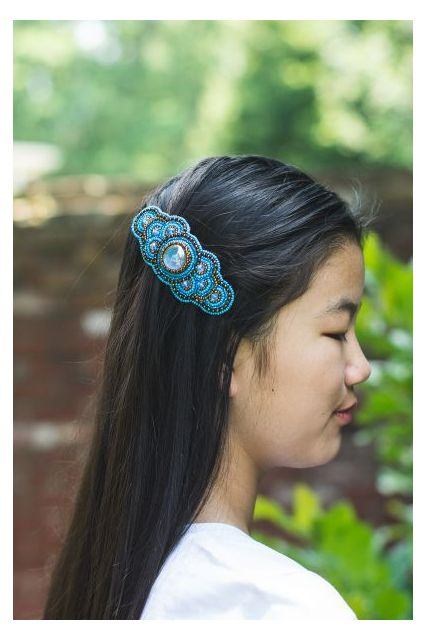 Fair Trade hand beaded barrette Guatemala