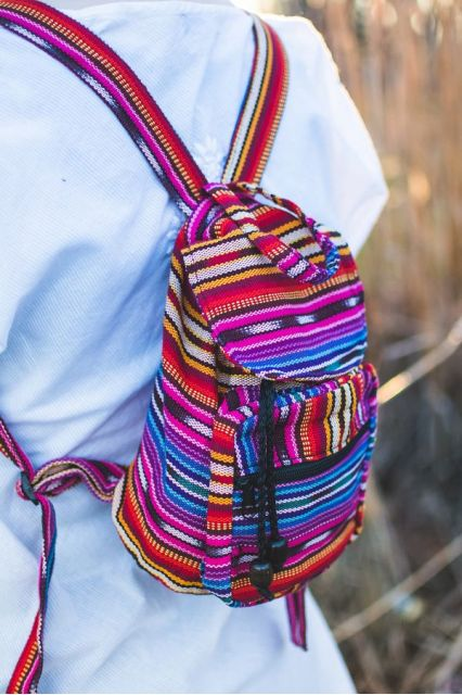 Fair Trade Handmade Guatemalan Ikat Mini Backpack