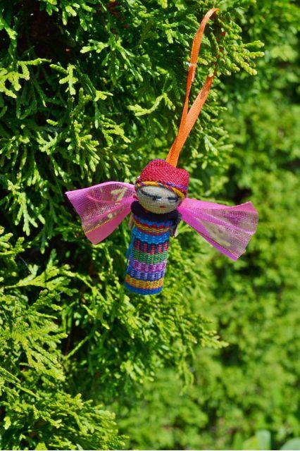 Fair Trade Handmade Guatemalan Worry Doll Angel Ornament