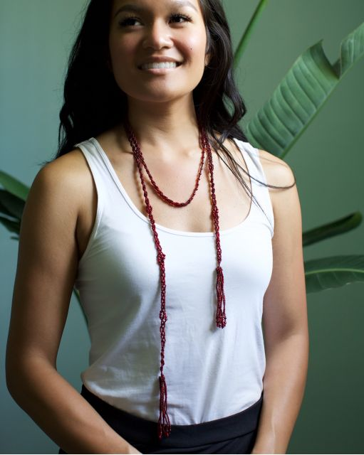 Lucia's Imports Wholesale Handmade Fair Trade Beaded Jewelry Lariat Necklace Layered Necklace Wrap Necklace