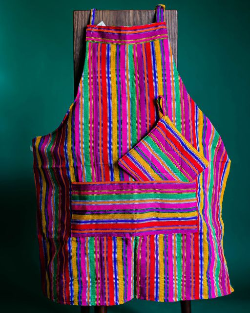 kitchen gift set fair trade handmade guatemalan potholders oven mitts apron