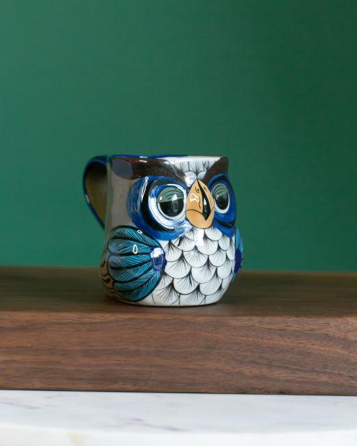 Fair Trade Handmade Guatemalan Ceramic Owl Mug