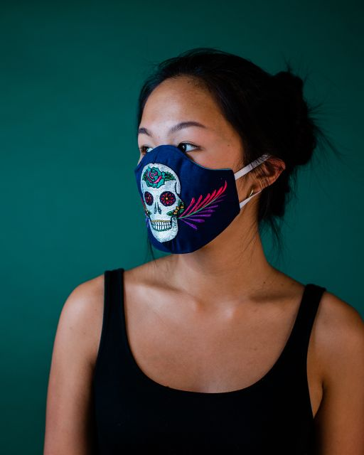Sugar Skull Face Mask Elastic