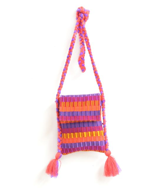 Tassels Braided Passport Bag Comolapa
