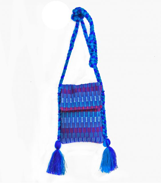 Lucia's Imports Fair Trade Handmade Guatemalan Tassel Braided Passport Bag