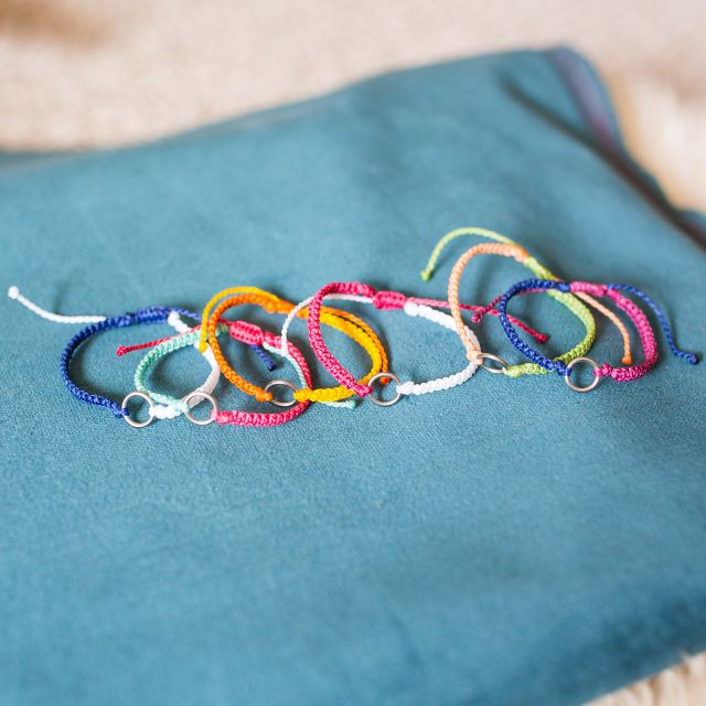 Fair Trade String friendship bracelets made in Guatemala