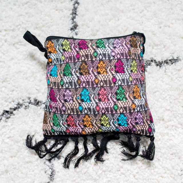 patzun sling purse fringe handbag fair trade handmade in guatemala