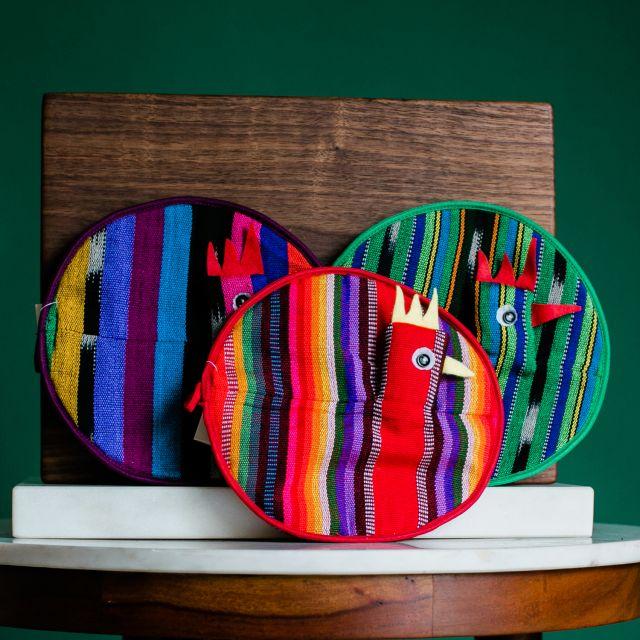 chicken potholders fair trade handmade kitchen accessories home decor guatemalan