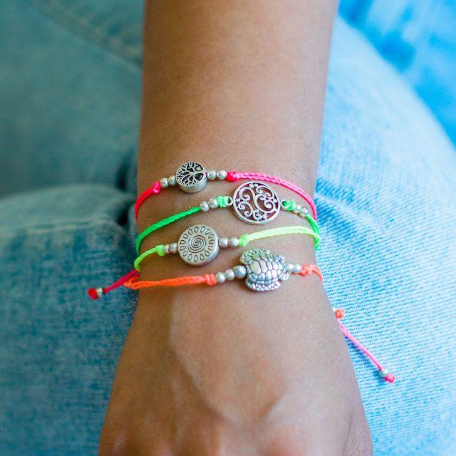 tree of life string charm bracelet fair trade guatemalan