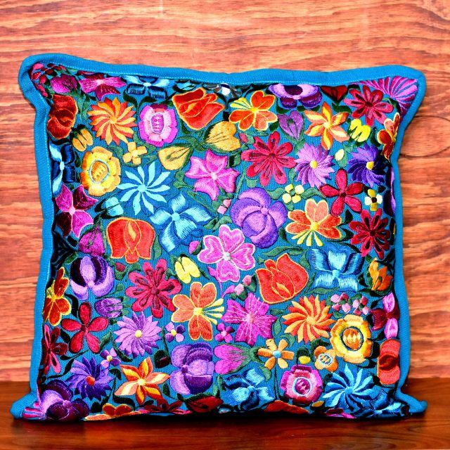 floral pillowcase fiesta guatemalan handmade fair trade bedroom decor living area accessories