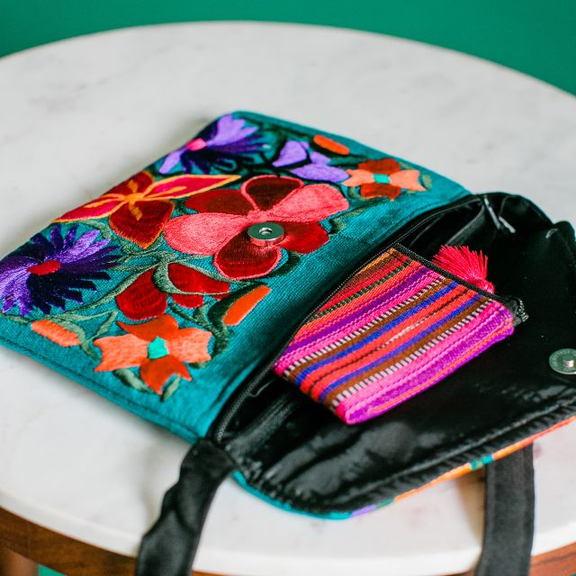 Guatemalan Fair Trade Fiesta Clutch Huipil Ethical Accessories Green Business Sustainable Handbag