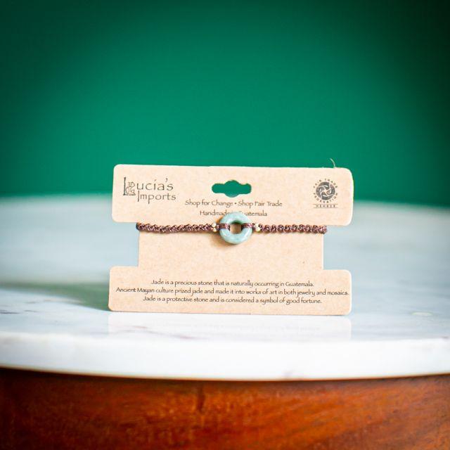 Karma Jade Macrame Bracelet Fair Trade