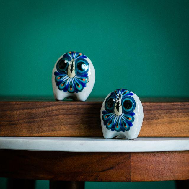 San Antonio Ppalopo Guatemal Fair Trade Owl Salt and Pepper Shaker Set