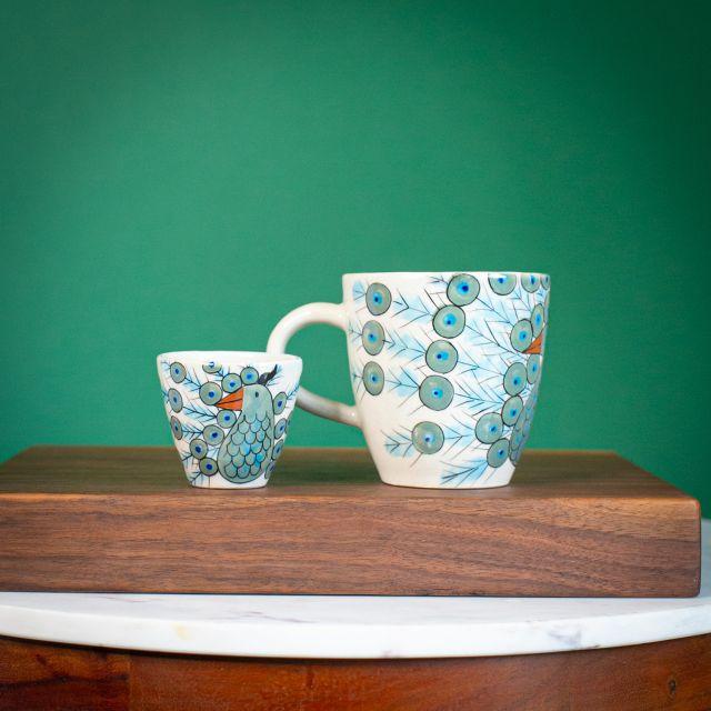 Peacock Espresso Cup Fair Trade