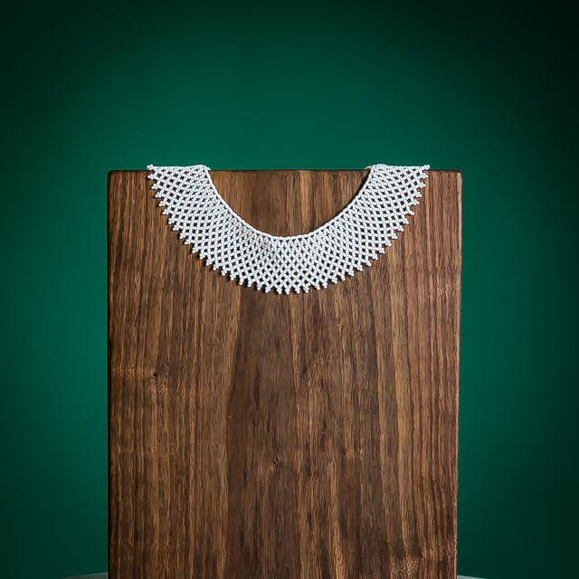 ruth bader ginsberg rgb lace collar beaded handmade guatemalan fair trade jewelry