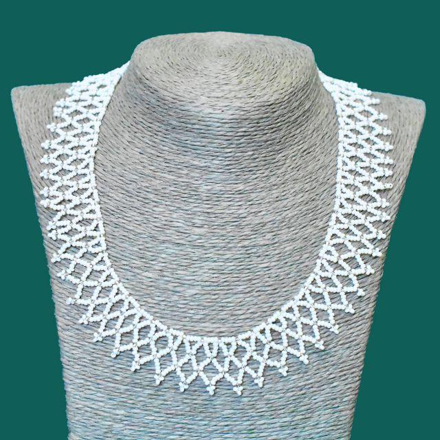 ruth bader ginsburg rgb necklace collar lace beaded handmade fair trade guatemalan