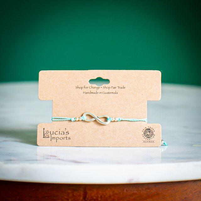 Infinity String Charm Bracelet Fair Trade Guatemalan