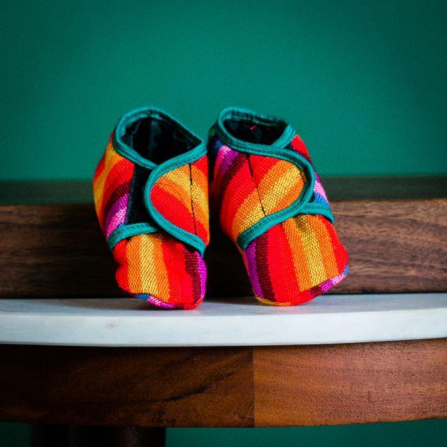 Fair Trade Handmade Guatemalan Velcro Baby ShoesFair Trade Handmade Guatemalan Velcro Baby Shoes