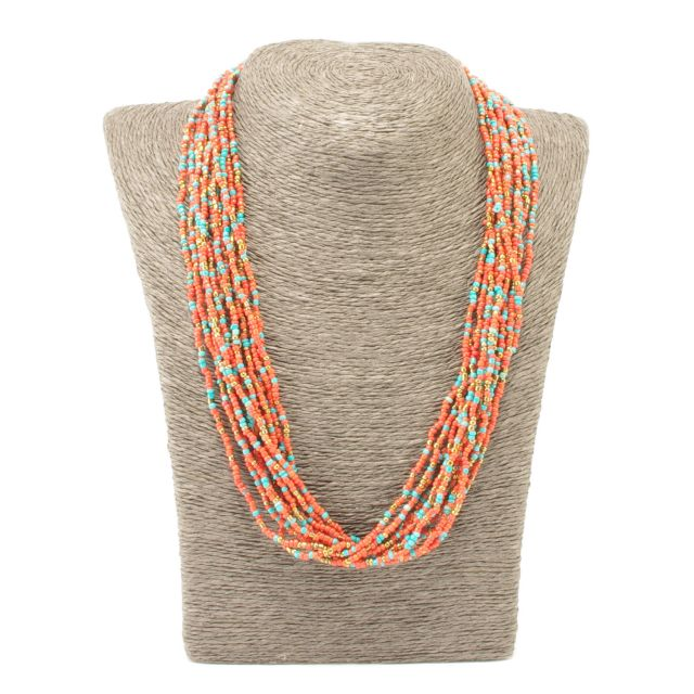 Lucia's Imports Wholesale Fair Trade Guatemalan Beaded 12 Strand Necklace
