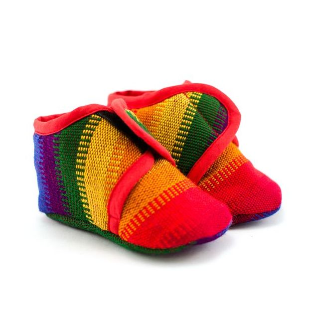 Fair Trade Handmade Guatemalan Velcro Baby Shoes