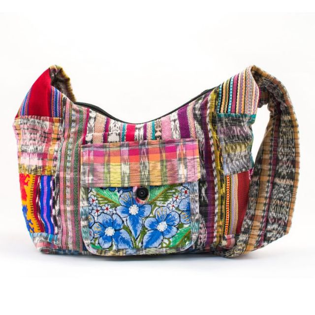 Mini Upcycled Patch Purse Guatemalan Handmade Fair Trade Ethical Handbag Purse