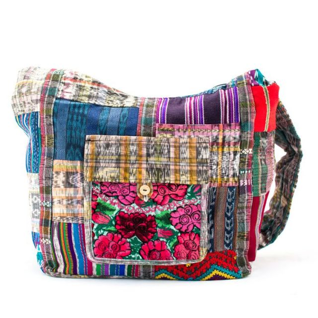 Fair Trade Recycled Patch Huipile Purse Ethical Style Fair Trade Fashion Handmade Handbag