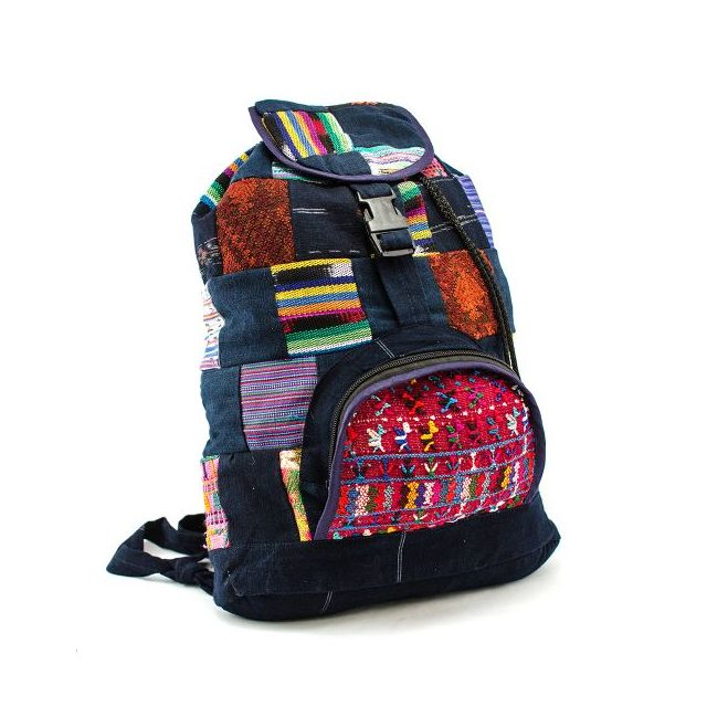 Fair Trade Upcycled Patch Backpack
