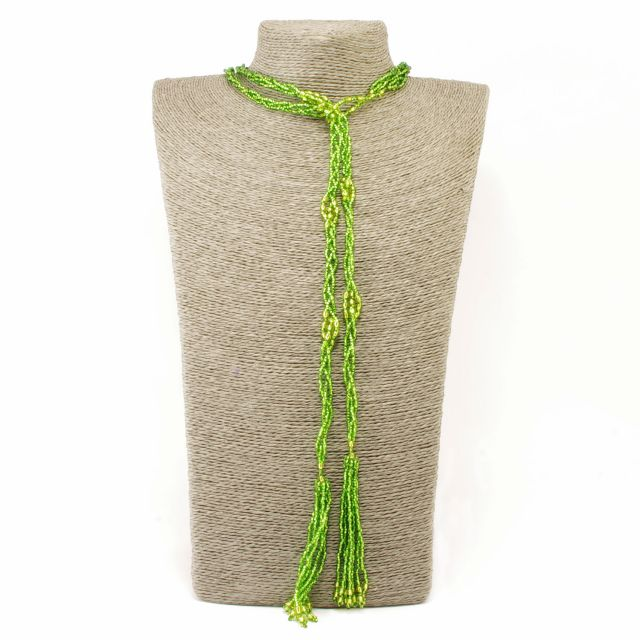 Handmade Fair Trade Beaded Jewelry Lariat Necklace Layered Necklace Wrap Necklace