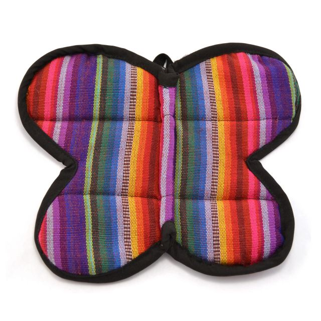 Fair Trade Handmade Woven Guatemalan Butterfly Potholder