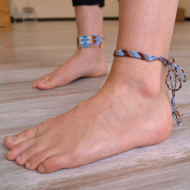 Friendship Anklet worn as an anklet
