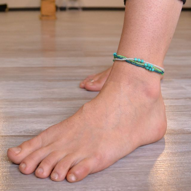 Trio of Hope Anklet in Verde
