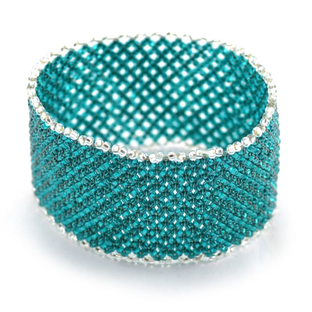 Lattice Cuff in Teal