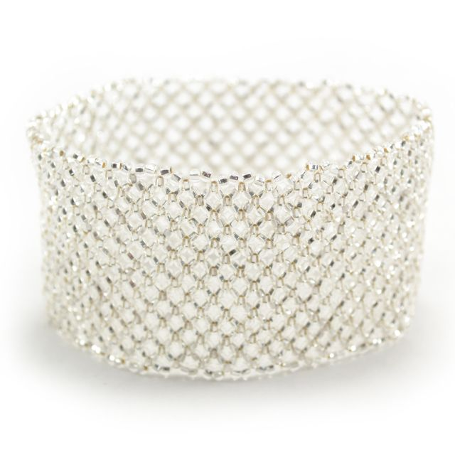 Lattice Cuff in Silver