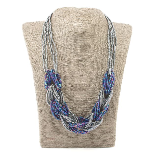 Fair Trade Beaded Necklace Jewelry Braided Guatemalan