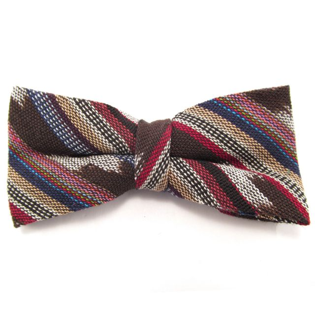 handmade fair trade guatemalan bowtie mens accessories corte ikat upcycled