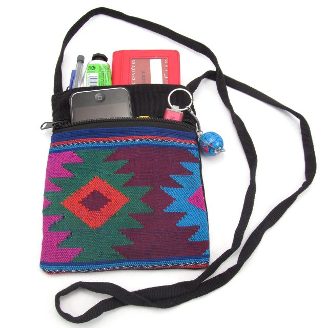 Fair Trade Crossbody Diamond Aztec Ethical Handbag Accessories